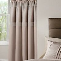 "Catherine Lansfield Textured Jacquard Natural Pencil Pleat Curtains 66""x72"""