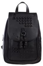 Sourpuss Idoless Studded Gothic Punk Rockabilly Black Backpack Bag SPPU206