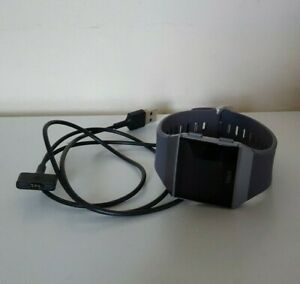 Fitbit Ionic Smart Watch Fitness Activity Tracker Blue Grey Silver - Large