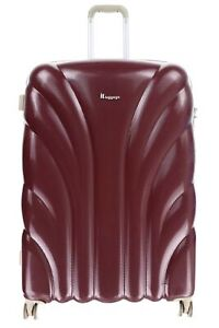 """Itluggage 159642 Burgundy Deep Red Hard Expandable Spinner 29"""" Suitcase Luggage"""