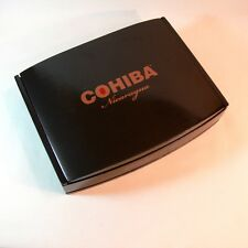 COHIBA en Crystale Cigar Box NICARAGUA Grey Lacquer HEAVY WOOD Curved Lid