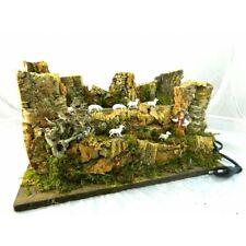 Gregge Pecore in Movimento Cm18x33x18 Animali Pecoraio Paesaggio Pastori Presepe
