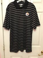 Pittsburgh Steelers Size Large Nfl Team Apparel Mens Black White Shirt Football
