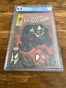 AMAZING SPIDER-MAN #316 CGC 9.2 MARVEL MEGA KEY 1st Venom Classic Cover App 1989
