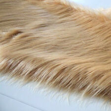 "Khaki SHAGGY FAUX FUR FABRIC LONG PILE FUR Costumes cosplay crafts 60""  BTY"