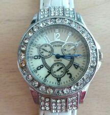 FEIDA lunette ornée de strass quartz VINTAGE- Montre bracelet femme