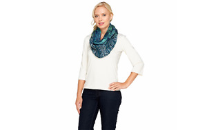 Collection 18 Tranquil Scales Woven Infinity Scarf Teal A257321