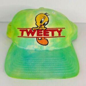 Tweety Bird (Looney Tunes) Spellout Tie-Dye Snapback Hat - 1998 WB Studio Store