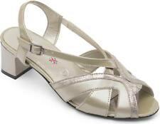 Padders CHARM Ladies Womens Leather Extra Wide Fitting (2E) Shoes Stone Pearl