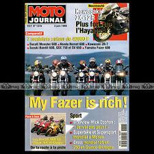 MOTO JOURNAL N°1378 YAMAHA FZS 600 DT 200 KAWASAKI ZR-7 ZX-12 R DUCATI 900 SS 99