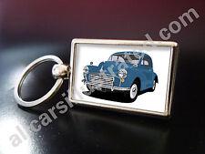 MORRIS MINOR METAL KEY RING. CHOOSE YOUR CAR COLOUR.