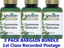 GYMNEMA SYLVESTRE LEAF 300 Capsules x 400mg - SWANSON, Diet - 1st Class P&P