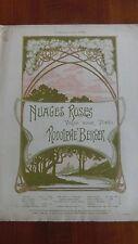 Partition Nuages roses valse pour piano Rodolphe BERGER illustration signée ED
