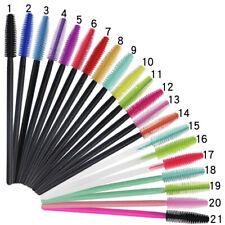 50x Silicone Head Disposable Mascara Wand Makeup Eyelash Brushes Lash Extention