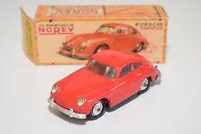 \ NOREV PLASTIC 16 PORSCHE CARRERA 356 COUPE RED NEAR MINT BOXED