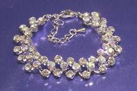 Damen Tennis Armband 3-reihig Silber mit Swarovski Steine Ketten Brautschmuck
