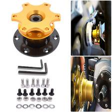 Universal Steering Wheel Quick Release Hub Adapter Snap Off Boss Kit Yellow
