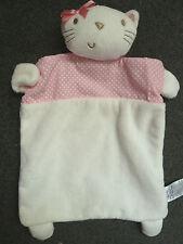 Next Cute Baby Girls Pink Chloe Kitten Cat Comforter Blankie Soft Toy