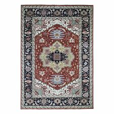 "10'x13'8"" Red Pure Wool Hand Knotted Tribal Oriental Rug R47230"