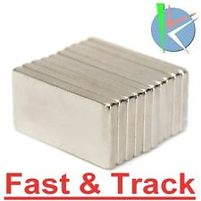 10 Magnetii Néodyme Aimants N52 20x10x2mm Block Magnets-- Rare Earth Neodymium