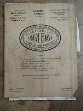Ancienne brochure fourniture soudure autogene chalumeaux CHARLEDAVE années 1940