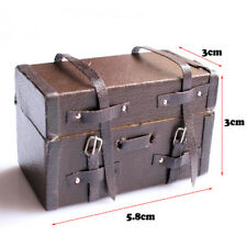 Miniature Carrying Vintage Suitcase Luggage For Dollhouse Decor 8C