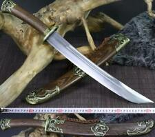 1095 Carbon Steel Rosewood sheath Dragon Dao Chinese Broadsword short 小清刀 Sword