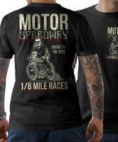 BIKER T-Shirt - MOTOR SPEEDWAY - Motorrad Schrauber Cafe Racer Motorcycle S-5XL