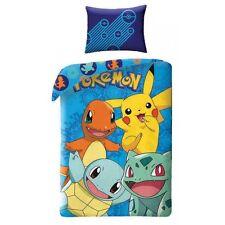 POKEMON Pikachu Squirtle Kids Children Single Bed Duvet Cover Set 100% COTTON