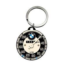 NOSTALGIE Schlüsselanhänger BMW Tachometer bedruckte Rückseite Auto Pkw NEU OVP