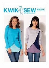 Kwik Sew Easy SEWING PATTERN K4187 Misses Tops With Overlay XS-XL
