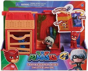 PJ Masks Micros Trap & Escape Playset Owlette & Luna Girl Figures New Kids Toy