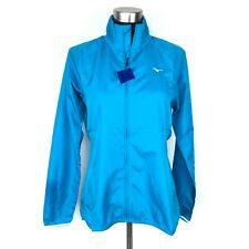 NEW Mizuno Womens Medium IMPULSE Thin Running Jacket Water & Windbreaker