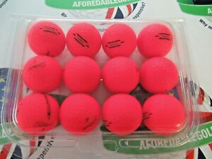 12 TITLEIST TRUFEEL RED MATTE FINISH GOLF BALLS PEARL/PEARL 1 GRADE GOLF BALLS