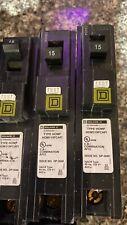 Lot Of 10 SQUARE D HOMELINE HOM115PCAFI Plug-On 1 POLE 15 AMP