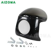 7 in Headlight Fairing With Windshield Mounting For Yamaha BMW Honda Cafe Racer