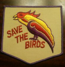 "Vtg NOS 70's ""Save The Birds""  hippie peace love biker patch"