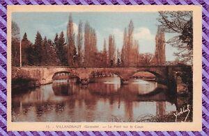 Carte Postale - VILLANDRAUT - le pont sur le Ciron