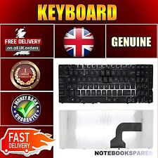New ASUS N71 N71J Laptop Keyboard Matte Black UK Layout No Frame