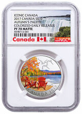 2017 Canada Iconic Autumn's Palette 1/2 oz Silver Matte $10 NGC PF70 ER SKU49315