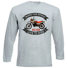 MOTO GUZZI NTX 650 - NEW GREY LONG SLEEVED TSHIRT- ALL SIZES IN STOCK