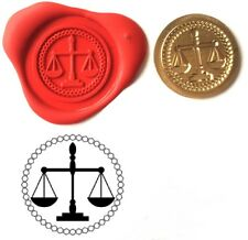 Scales of Justice, Lawyers Wax Stamp Seal Kit or Buy Coin Only  XWS039B/XWSC148