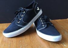 VOI JEANS Canvas Shoes BLACK UK 9 SKATE Trainers PLIMSOLS