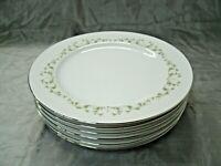 """Vintage Sheffield ELEGANCE Set of 6-10 1/4"""" Dinner Plate Fine China #502 Japan"""