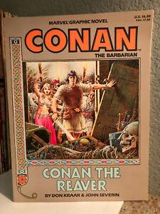 CONAN THE REAVER by Don Kraar & Severin - MARVEL Graphic Novel - EX Condition