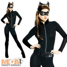 Catwoman Ladies Fancy Dress Adults Batman Superhero Womens Halloween Costume
