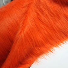 Orange SHAGGY FAUX FUR FABRIC LONG PILE FUR costumes photographic backdrops BTY