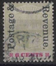 r361) Mauritius. 1902. Used.  SG 158 6c Green & rose-red. Emblems.