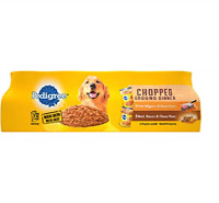 PEDIGREE Adult Canned Wet Dog Food Chopped Ground Dinner Variety Pack, (12) 1...