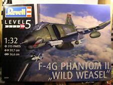VIETNAM ERA F4G PHANTOM II WILD WEASEL REVELL 1:32 SCALE PLASTIC MODEL KIT